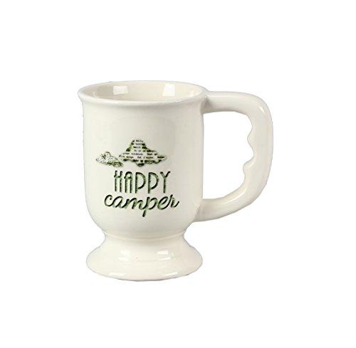 Youngs 's Keramik Happy Camper Becher, Mehrfarbig, 14cm - Camper Happy Becher