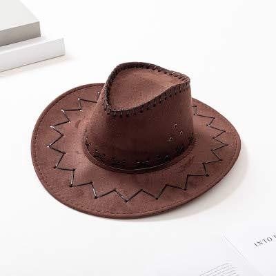 TYMZTY Sonnenhut New Western Cowboy Hüte Für Männer FrauenAnkunft Mode Tourist Caps Für Kind Jungen Gilrs Party Kostüme Cowgirl Cowboy HüteBraun