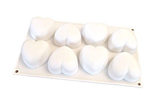 3d 8cuori stampo in silicone stampo per torta forma cioccolato forma cubetti di ghiaccio forma stampo cup cake biscotto torta fai da te cottura decorare eckige forma rotonda di royal house ware