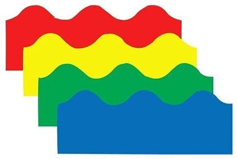 Border Set Scalloped 4/Pk Red Yellow Green Blue by Frank Schaffer Publications/Carson Dellosa Publica (English Manual)