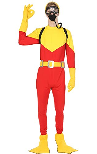 Herren Scuba Steve Tauchen Film Karneval Fasching Verkleidung Kostüm Extra Large