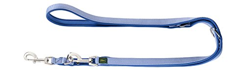 HUNTER Neopren Verstellbare Führleine für Hunde, Nylon, Neopren gepolstert, für Sport und Freizeit, 1,5/200 cm, blau -