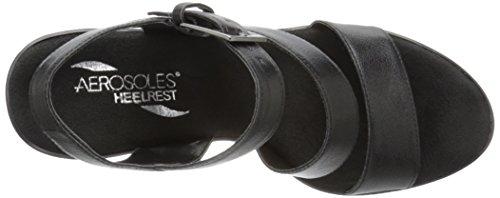 Aerosoles Explorative Synthétique Sandales Compensés Black