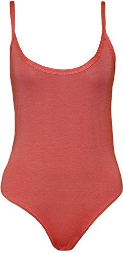 WearAll - Body débardeur top à sangles sans manches - Combinaisons - Femmes - Tailles 36 à 42 Corail