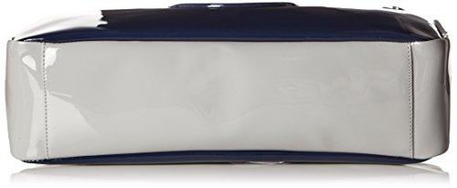 Armani Jeans Damen 922548CC852 Henkeltaschen, 27x12x40 cm Mehrfarbig (DRKNAV/GRIGIO/CAPTBL 38135)