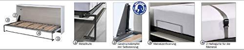 Querklappbett alpinweiß Klappbett Querklappbett Schrankbett Bett 90×200 NEU - 4