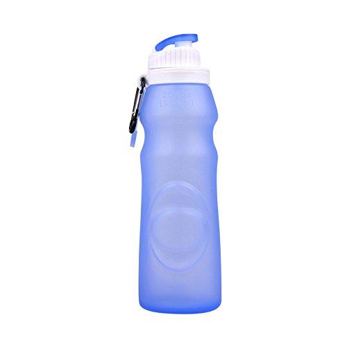 SUNDAY-QH Folding Cup Portable Student Hand Tasse Sommer Kreative Trend Silikon Tropfen Persönlichkeit Kleine Frische Peeling Cup,Blue-550ml -