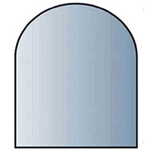 Glasbodenplatte 8 mm Stärke, 80 x 80 cm, Halbrund 21.02.897.2 Glasplatte Funkenschutz Platte Kamin Ofen Kaminöfen Lienbacher Vorlegeplatte Bodenplatte ESG Sicherheitsglas