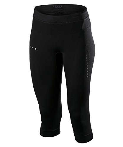 FALKE Damen Laufbekleidung Running 3/4 Tights Compression Black, L