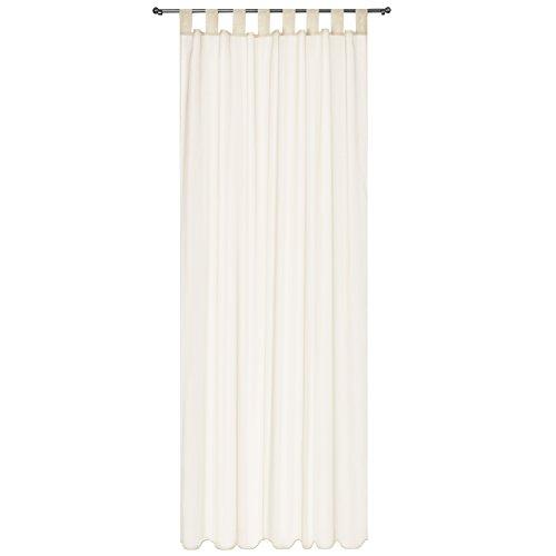 Beautissu tenda decorativa velata con passanti serie amelie - 140x245cm crema - tenda trasparente finestre e balconi