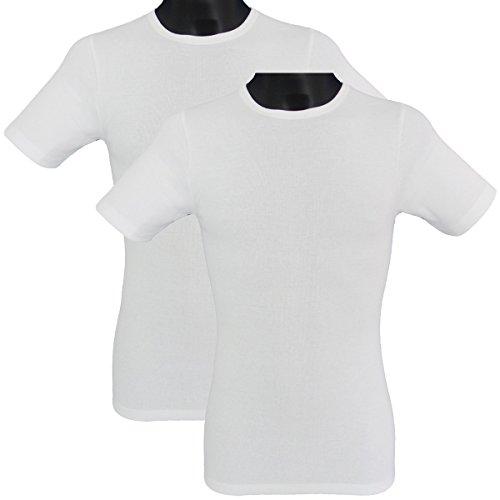 HERMKO 3840 2er Pack kurzarm Shirt (Weitere Farben) Weiß