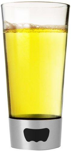 (Asobu Pint Glass Beer Mug with Beer Opener Base, 16 oz, Blue)