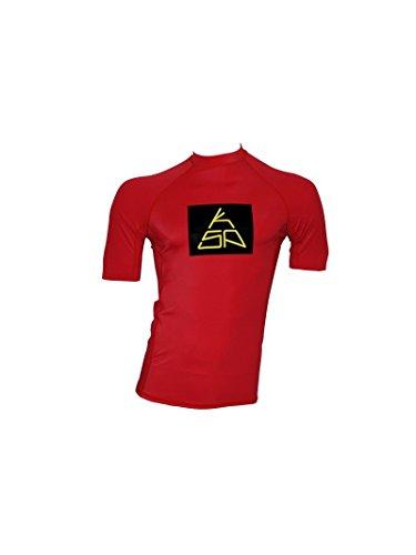 Maillot en Lycra manches courtes KSP LC 15S-M-L-XL Top Rashguard anti-UV pour kitesurf shirt Windsurf for Surf, L