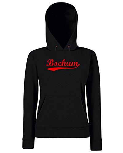 T-Shirtshock - Sweats a capuche Femme TSTEM0213 vintage bochum red Noir