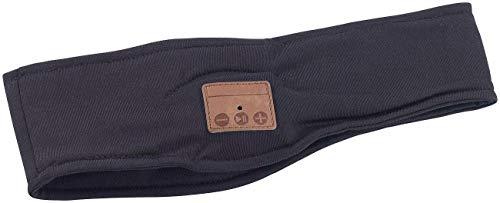 Monsterzeug Stirnband mit integriertem Bluetooth Headset, Schweißband Kopfhörer, Ohrenwärmer Musik und Telefonieren, Wireless Stereo Kopfband, Freisprecheinrichtung, Mikrofon, Sport, Fitness, Schwarz (Mikrofon Mit Wireless-stirnband)