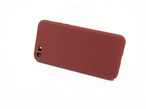 iPhone 7 Schutzhülle Ultra Slim in rot Lederoptik original smartec24® Ultra dünnes Premium Case mit extrem guter Haptik dank spezieller Oberflächenstruktur 100% perfekte Passgenauigkeit (iPhone 7 rot) iPhone 6 / 6s Plus braun