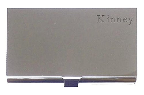 <span class='b_prefix'></span> Engraved Business Card Holder. Engraved name: Kinney (first name/surname/nickname)