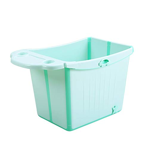 Foldable Baby Bath tub Extra Large Children's Bath tub Bath tub Children can sit Baby Bath tub Bath Barrel Fresh Green