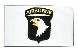 USA 101st Airborne Weiss Flagge, amerikanische Fahne 90 x 150 cm, MaxFlags®