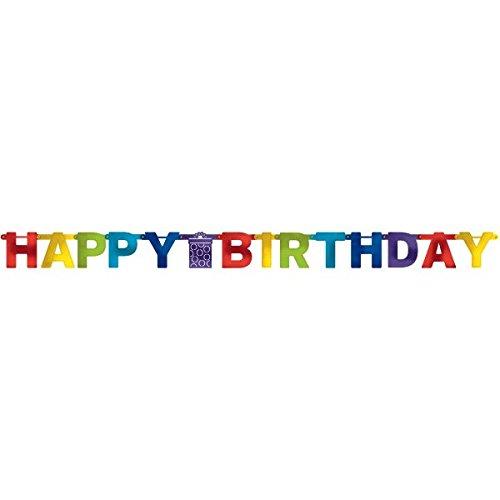 amscan 1201992,2m Bright Geburtstag Letter Banner