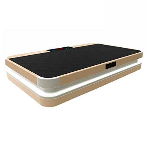 QNJM Vibrationsplattform for Zu Hause, Vibrationsplatte Ganzkörper-Vibrations-Trainingsgerät-Trainingsgerät-Trainingstrainer, Maximalgewicht 330 Lbs (Color : Gold)