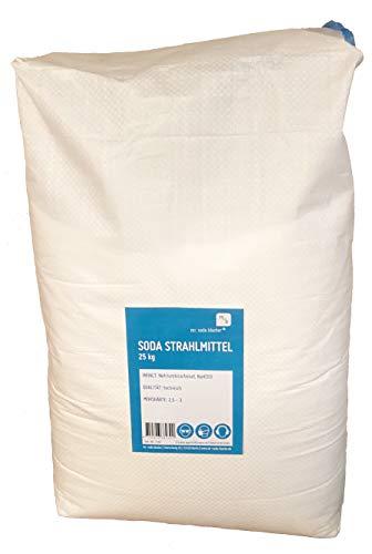 Soda Mineral Strahlmittel 0,1-0,3 mm, 25 kg, optimal für Soda Blaster Strahlpistolen, Strahlsoda (Sandstrahlmittel) zum Backpulverstrahlen