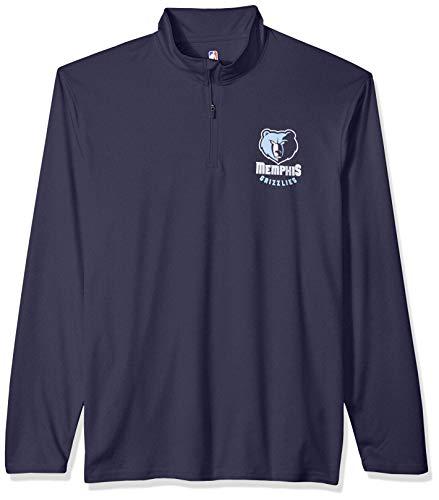 Ultra Game NBA Herren Pullover, Quarter Reißverschluss, schnell trocknend, Herren, Men's Quarter Zip Poly Knit Long Sleeve Shirt, Team Color, Large - Long Sleeve Knit Shirt