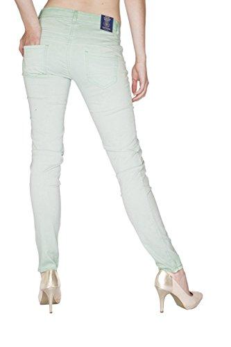Blue Monkey Jeans -  Jeans  - Attillata  - Basic - Donna Verde