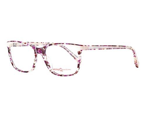 Etnia Barcelona Brille (WEIMAR PUWH) Acetate Kunststoff marmor stil pflaumenfarben - opal