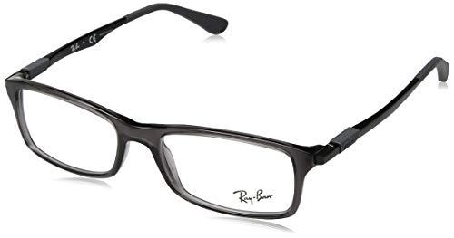 Ray-Ban Herren 0RX7017 Brillengestelle, Grau (Transparente Grey), 53