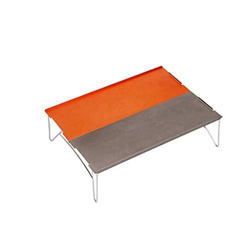 Mini Faltender Campingtisch mit Aluminium Tischplatte Serria® tragbare wasserdicht, witterungsbeständig und leicht zu reinigen Beistelltisch für Camping,Picknick,Reisen,Strand
