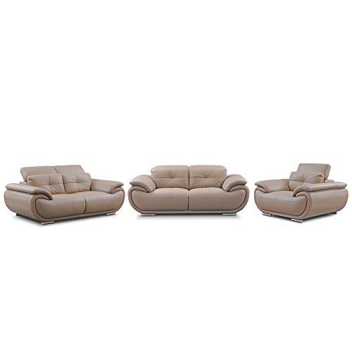 Evok Saturn Six Seater Sofa Set 3-2-1 (Beige)