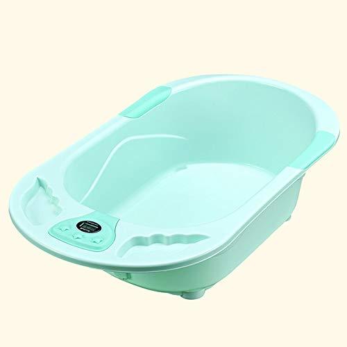 Vasca per Bambini, può Sedersi sul Lavandino, Vasca per Bambini, Bagno per Bambini A Temperatura Automatica (Color : Green1)