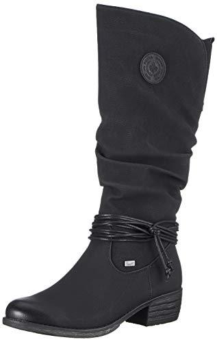 Rieker Damen 93154 Hohe Stiefel, (Schwarz 00), 38 EU