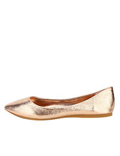Cendriyon Ballerine Bronze Brillante BESTELLE Chaussures Femme