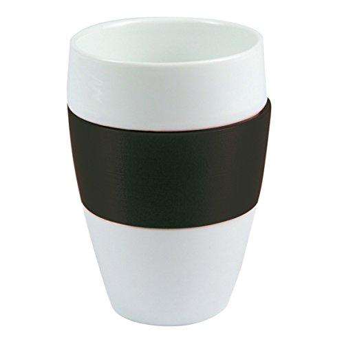 Koziol 3564526 Aroma Gobelet Plastique/Porcelaine Noir 7 x 7 x 11,3 cm
