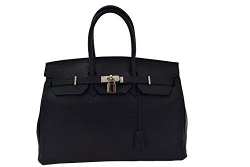 Handtasche Leder blaue (Chanel Leder Handtaschen)