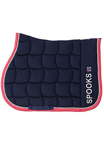 SPOOKS Schabracken, Sattelpad, Satteldecke, Dressur, Springen, Pferde, Springschabracke, Turnierschabracke - Saddle Pad Capri navy/pink