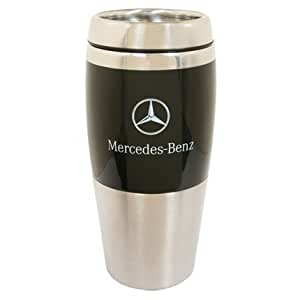 mercedes benz black stainless thermo tumbler coffee mug
