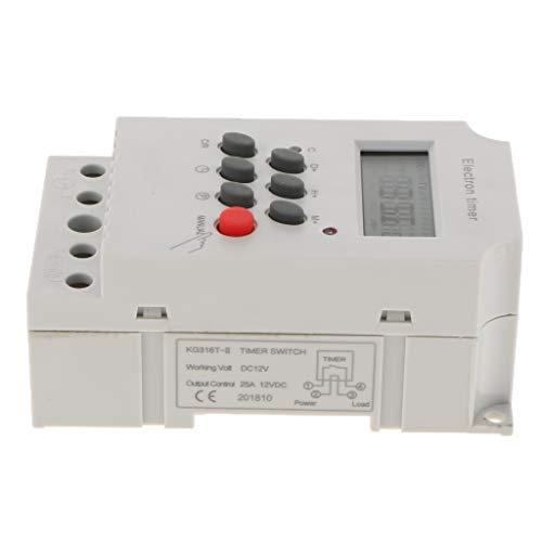 F Fityle Programmierbarer Digitale Zeitschaltuhr Mikrorelais Zeitschalter Timer Relais DC/AC 12V - 12v Ac Timer Relais