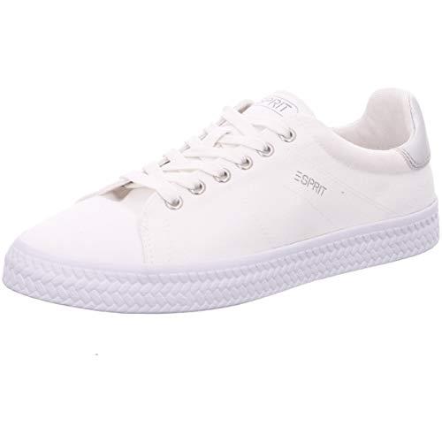 ESPRIT Damen Sneaker Netta LACE UP weiß Textil 39
