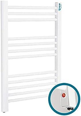 farho Secador de Toallas Electrico Nova Eco Little Blanco 250W · Radiador Toallero Electrico Bajo Consumo · Toalleros de Baño/Calentador Toallas con Termostato ON/Off (Medidas 700 x 500mm)