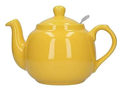 London Pottery Théière en vrac avec infuseur en céramique, jaune, 4 tasses (1 litre)