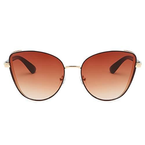 fazry Herren Damen Einfach Mode Jahrgang Katzenauge Brille Brillen Sonnenbrille (Mehrfarbig)