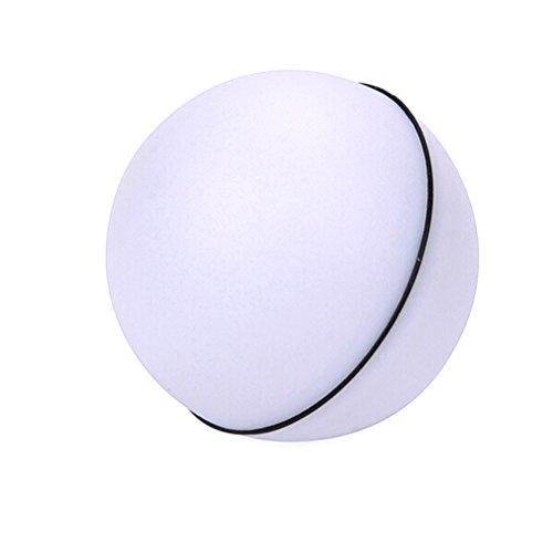 UEETEK Giochi Interattivi per Gatti Pallina per Gatti Automatico Movimento Giocattolo per Gatti con Luce LED (Bianco)