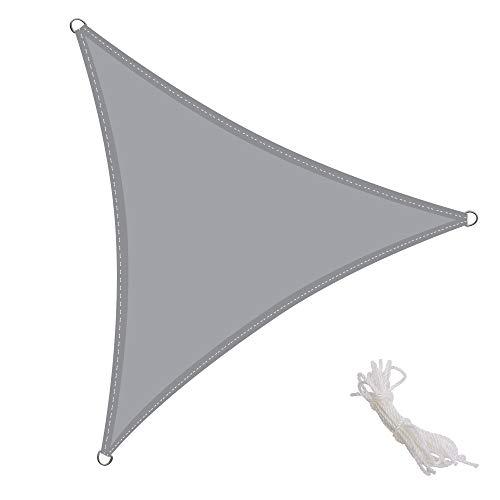 per spazi allaperto Color Sabbia Sunnylaxx Tenda a Vela Triangolare 3 x 3 x 4.2 Metri Resistente e Traspirante