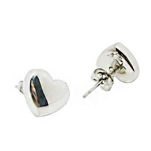 JewelryWe Gioielli Fashion Love-Shaped Orecchini in acciaio inossidabile delle donne e uomini