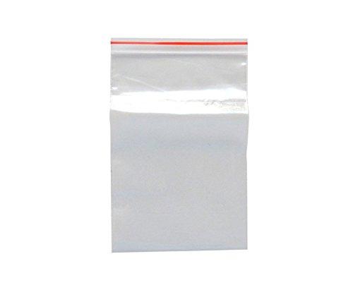 100 Druckverschlußbeutel | Ziplock Bags | 70x100 mm, 40 mµ | Hergestellt in Deutschland