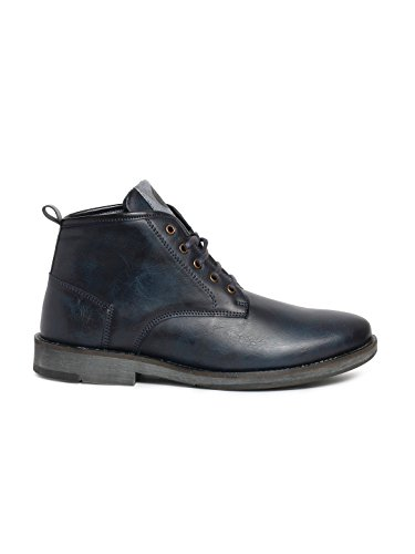 Bacca Bucci Men Blue Synthetic Leather Boots