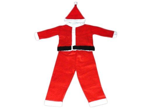 Weihnachtsmannkostüm für Kinder 3tlg Nikolauskostüm Weihnachtsmann Santa Claus Sankt Nikolaus Anzug Kostüm Karneval Fasching